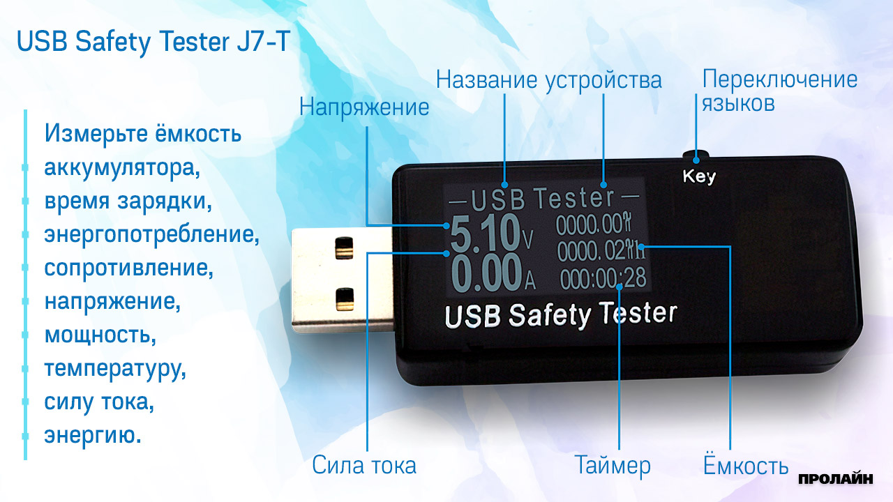 Тестер USB Safety Tester J7-T