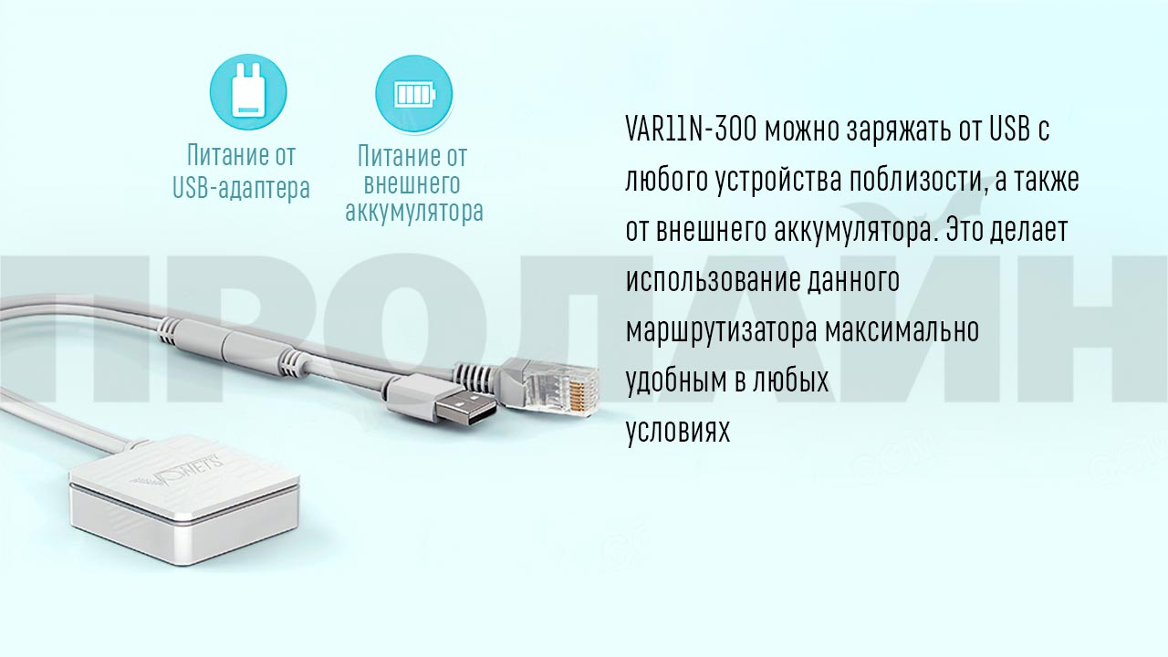 Wi-Fi роутер Vonets VAR11N-300 компактного размера
