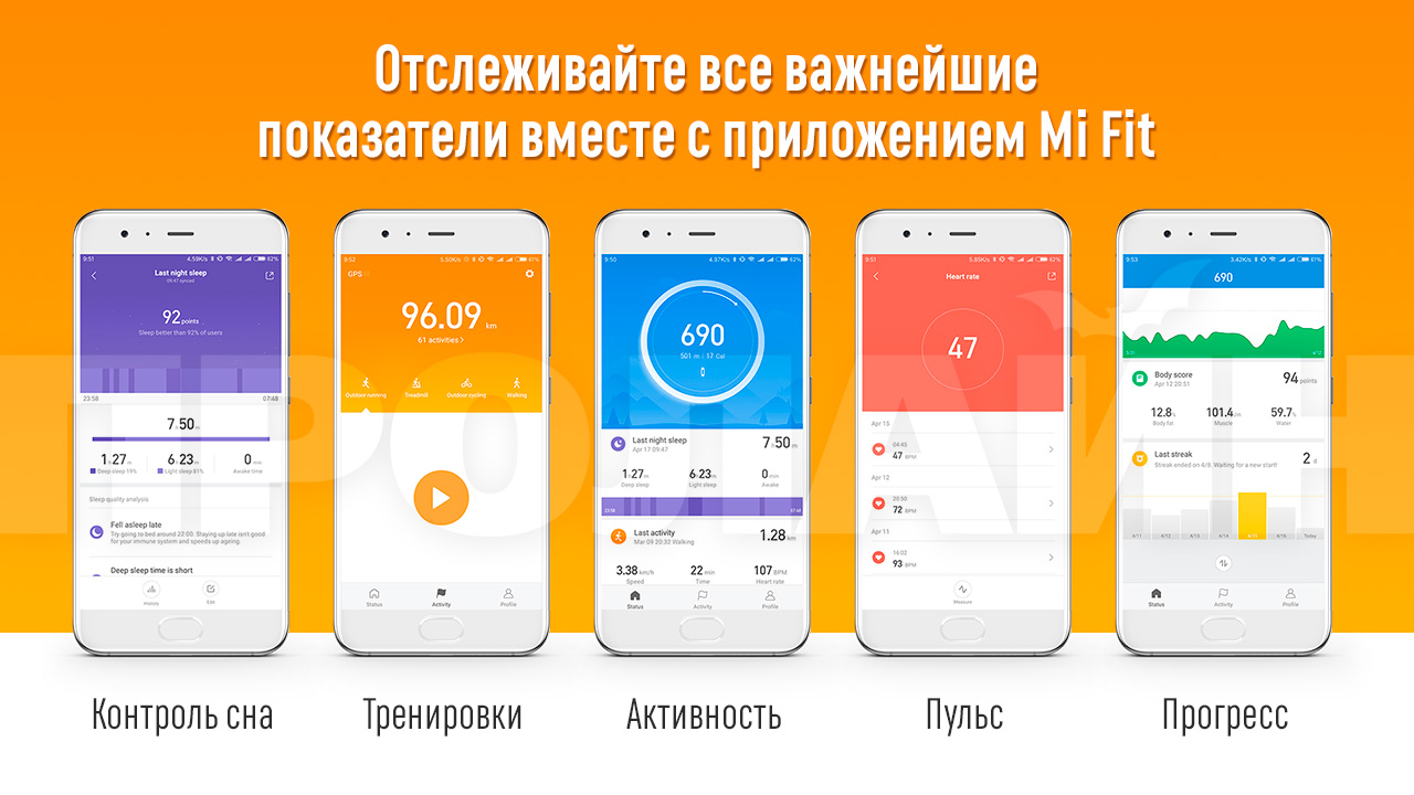 Умные фитнес-часы Xiaomi Amazfit Bip White A1608