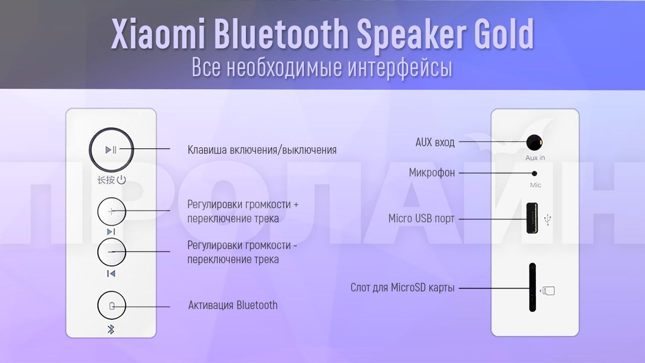 Портативная акустика Xiaomi Bluetooth Speaker Gold