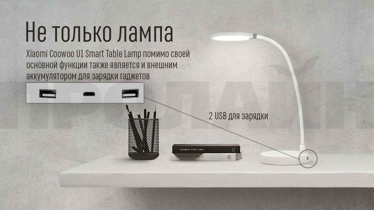 Настольная лампа Xiaomi Coowoo U1 Smart Table Lamp
