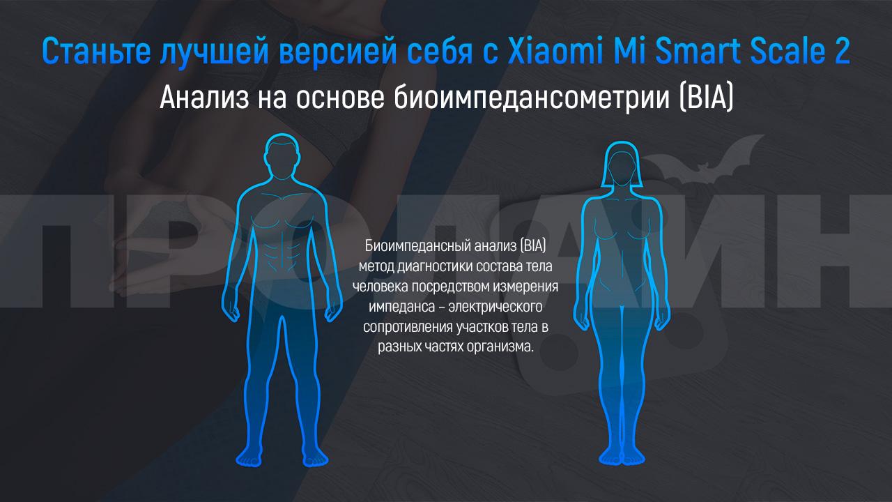 Напольные умные весы Xiaomi Mi Smart Scale 2 White