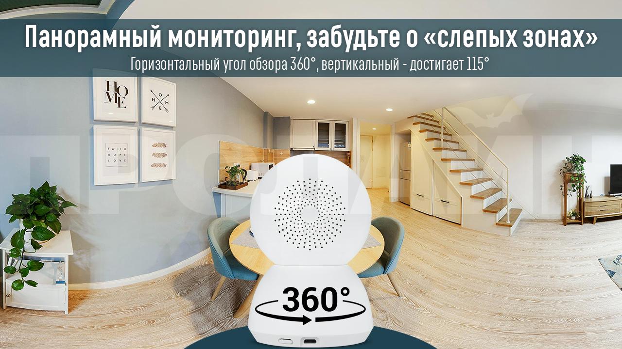 Домашняя поворотная Wi-Fi камера Xiaomi MiJia 360° Home Camera 1080p