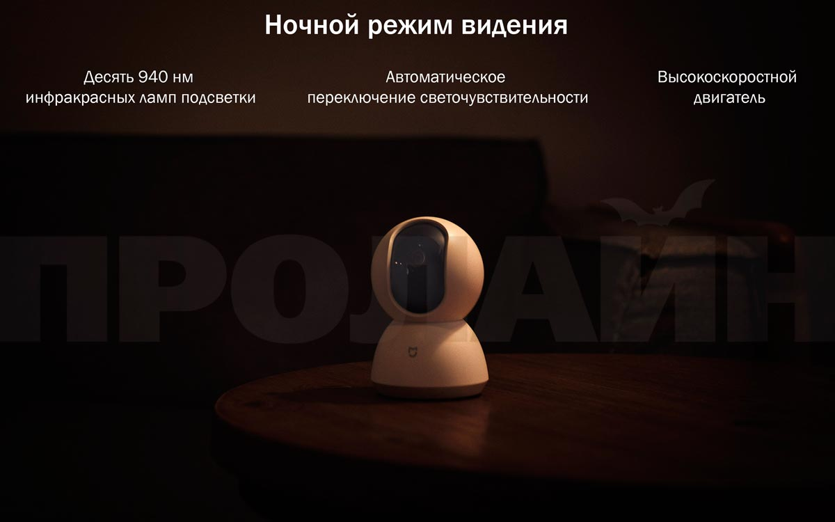 Домашняя поворотная WiFi камера Xiaomi MiJia Pan/Tilt Home Camera