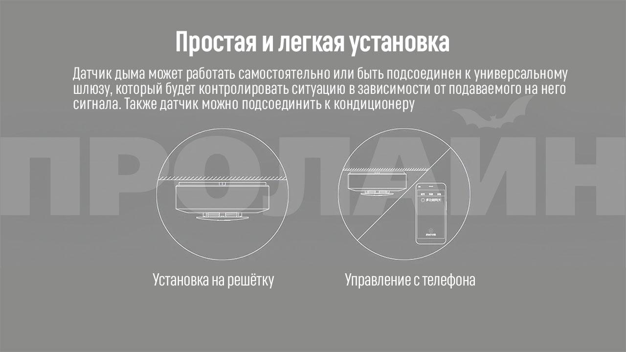 Датчик дыма Xiaomi MiJia Smoke Detector