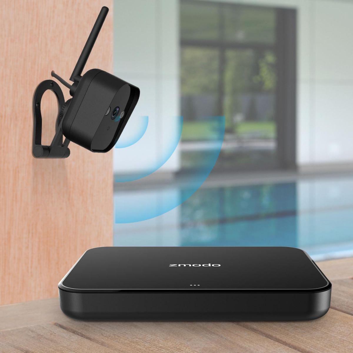 Комплект IP видеонаблюдения с 2 камерами ZMODO ZM-KW1001-O-500Gb