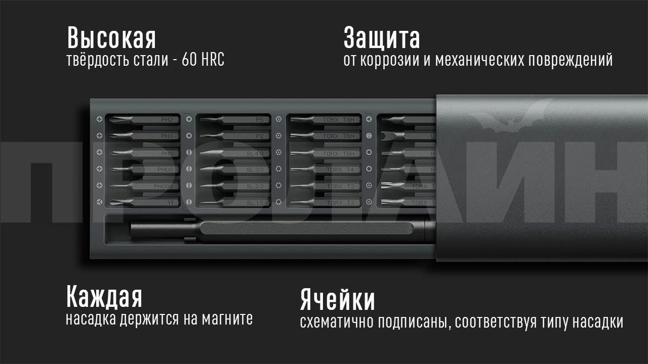 Отвёртка с набором бит Xiaomi Wiha JXLSD01XH для ремонта гаджетов
