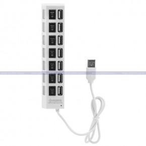 USB HUB 7PS белый