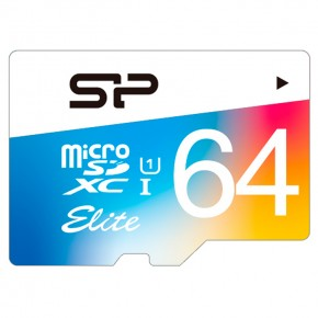 64Gb microSDXC UHS-I Silicon Power (цветная)