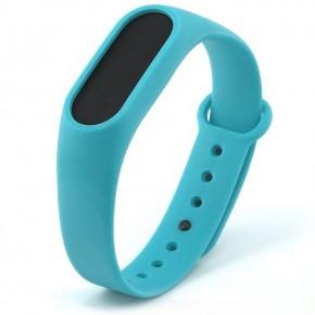 Ремешок для Mi Band 2 силиконовый голубой