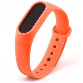 Ремешок для Mi Band 2 силиконовый оранжевый