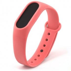 Ремешок для Mi Band 2 силиконовый розовый