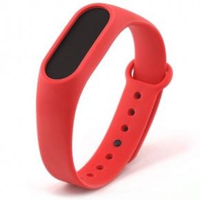 Ремешок для Mi Band 2 силиконовый красный