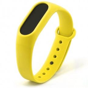 Ремешок для Mi Band 2 силиконовый желтый