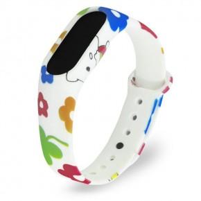 Ремешок для Mi Band 2 силиконовый с узором Hello Kitty