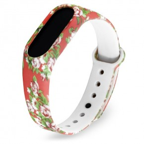 ремешок для Mi Band 2 с узором цветы