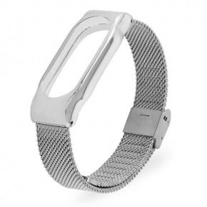Ремешок для Mi Band 2 стальной серебряный