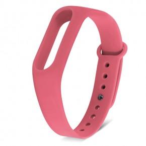 Ремешок для Mi Band 2 силиконовый яркий розовый