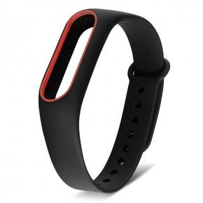 Ремешок для Mi Band 2 MIJOBS черный с красным