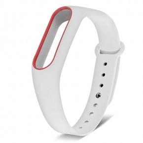 Ремешок для Xiaomi Mi Band 2 MIJOBS белый с красным