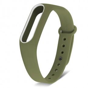 Ремешок для Mi Band 2 MIJOBS зеленый с белым