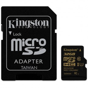 32Gb microSDHC C10 Kingston Gold UHS-I U3
