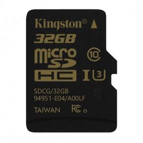 Kingston MicroSDHC 32Gb UHS-I U3 C10 Gold без адаптера