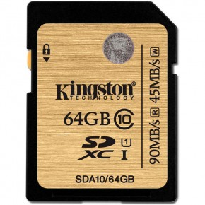 KINGSTON SDXC Class 10 UHS-I SDA10 64GB