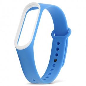 Ремешок для фитнес-браслета Xiaomi Mi Band 3 синий с белым