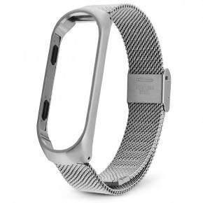 Xiaomi Mi Band 3 Milanese Loop серебряный