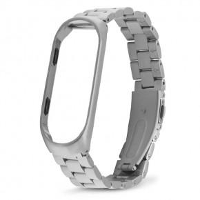 Ремешок для фитнес-браслета Xiaomi Mi Band 3 Stainless Steel серебряный
