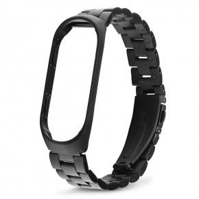 Ремешок для фитнес-браслета Xiaomi Mi Band 3 Stainless Steel черный